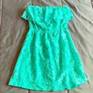 Lacy Green Tube Dress
